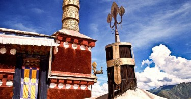 Detalle de la arquitectura tibetana