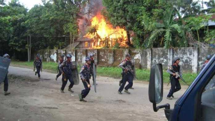 Militer Myanmar di Rohingya