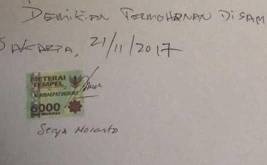 Surat Setnov