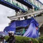 Beton LRT rubuh