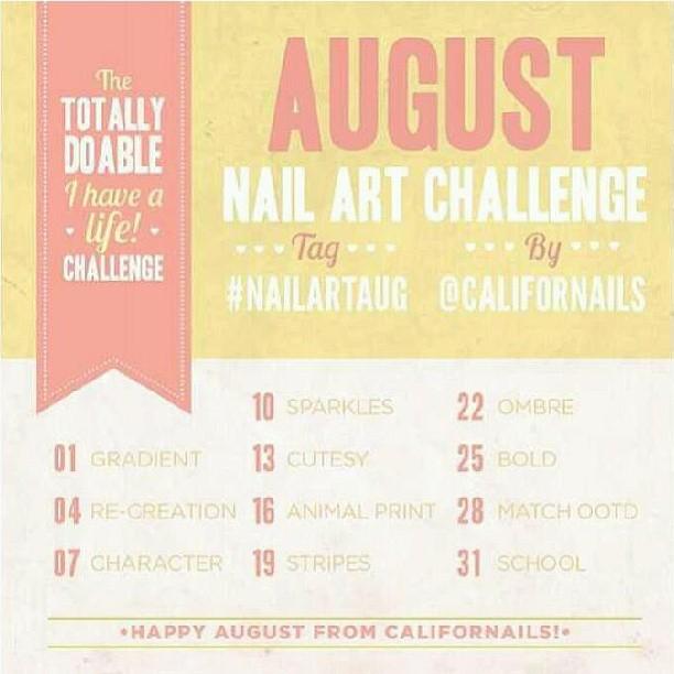 August 2017 Nail Art Challenge