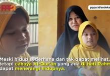 Rahma, Bocah Tunanetra yang Mampu Menghafalkan 5 Juz Al-Qur'an