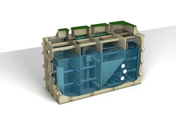 diagram of ACO Clara industrial unit