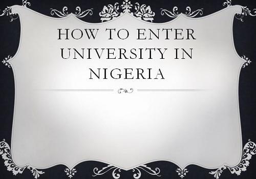 how to enter university in nigeria