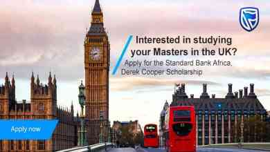 Photo of Standard Bank Derek Cooper Scholarship 2020/2021
