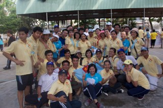 Vietnamese seminarians and postulants pose in a group at sports event