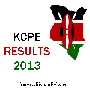 KCPE Results 2013
