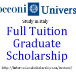Graduate Study in Italy with a Bocconi Scholarship for International Students