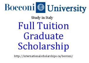 Bocconi Graduate Scholarship