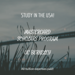 MasterCard Foundation Scholars Program, UC Berkeley