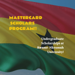 MasterCard Scholarships at Kwame Nkrumah University
