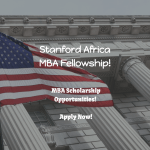 The Stanford Africa MBA Fellowship
