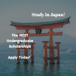 Japanese Government Undergraduate Scholarships (MEXT Scholarships)