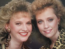 Tam on the left, me on the right. Who didn't do glamour shots in the nineties?