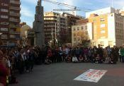 Assemblea en Defensa de la Sanitat Pública a Plaça Ricard Vinyes el 19 de març de 2014. Aturem el consorci !!!