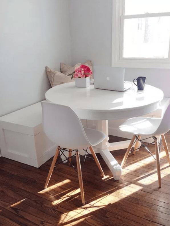 White Breakfast Nook design by pinterest
