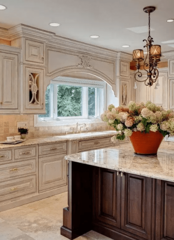 Antique White Kitchen Cabinets With Wood Floors
