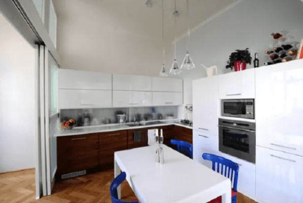 Home Interior With L Shaped Kitchen