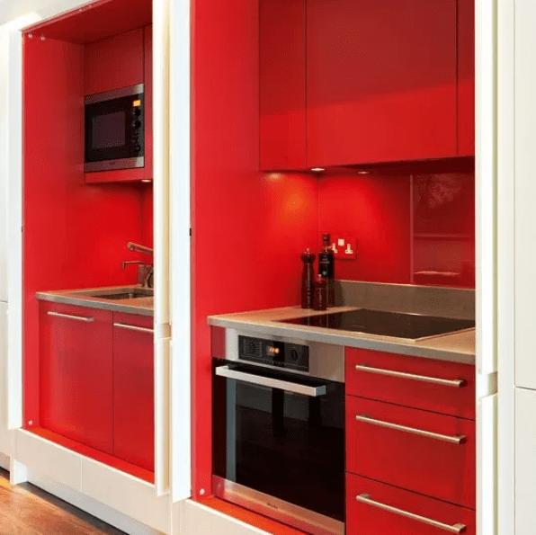 Red Galley Kitchen