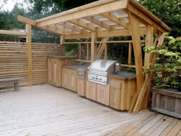 wood outdoor kitchen ideas by pinterest