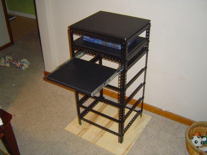Diy home made custom wood server rack computer stuff