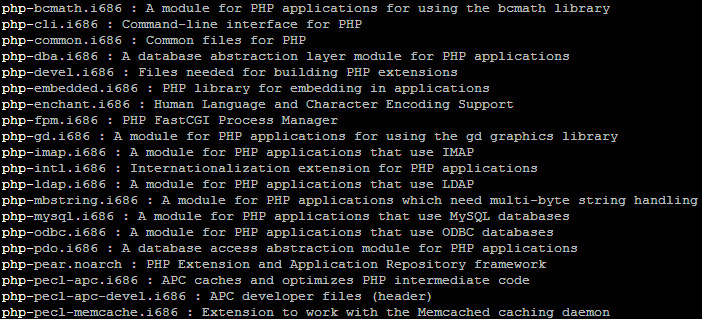 php modules