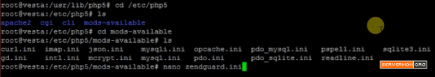 create zendguard ini file