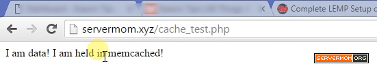 memcached test success