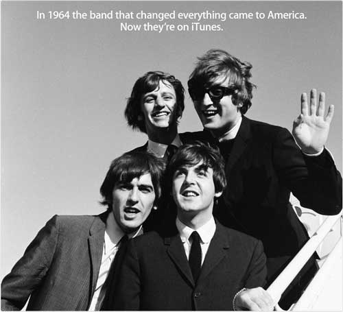 Apple iTunes Beatles release black and white 1964 www.servetolead.org