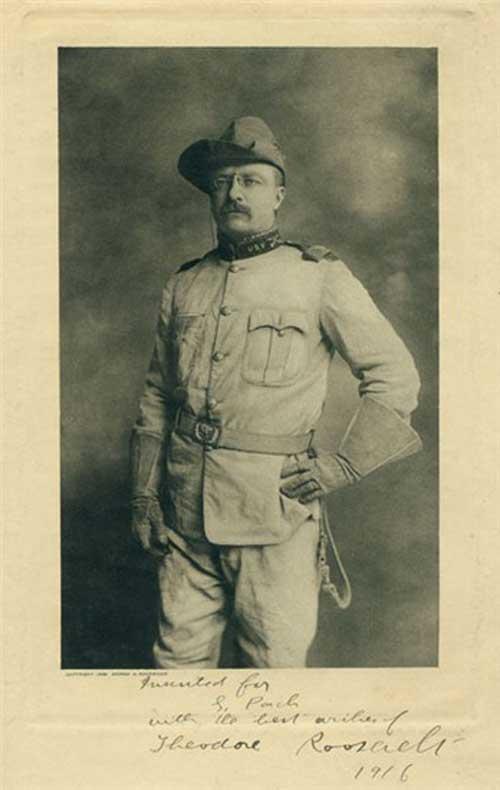 Theodore Roosevelt uniform Spanish American War 1898 www.servetolead.org
