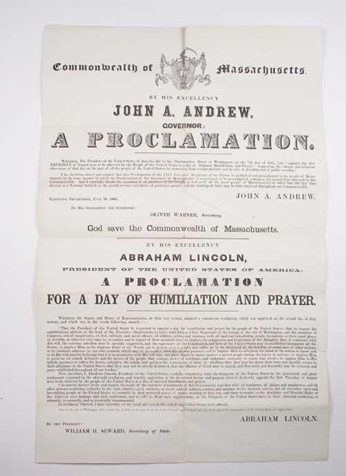 Lincoln Thanksgiving Proclamation 1863 Seward at www.servetolead.org