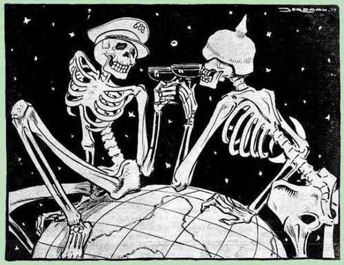 World War 1 skeletons toasting death world at www.servetolead.org