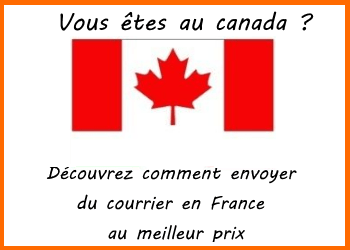 envoi de courrier canada france