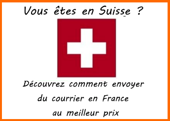 envoi de courrier suisse france