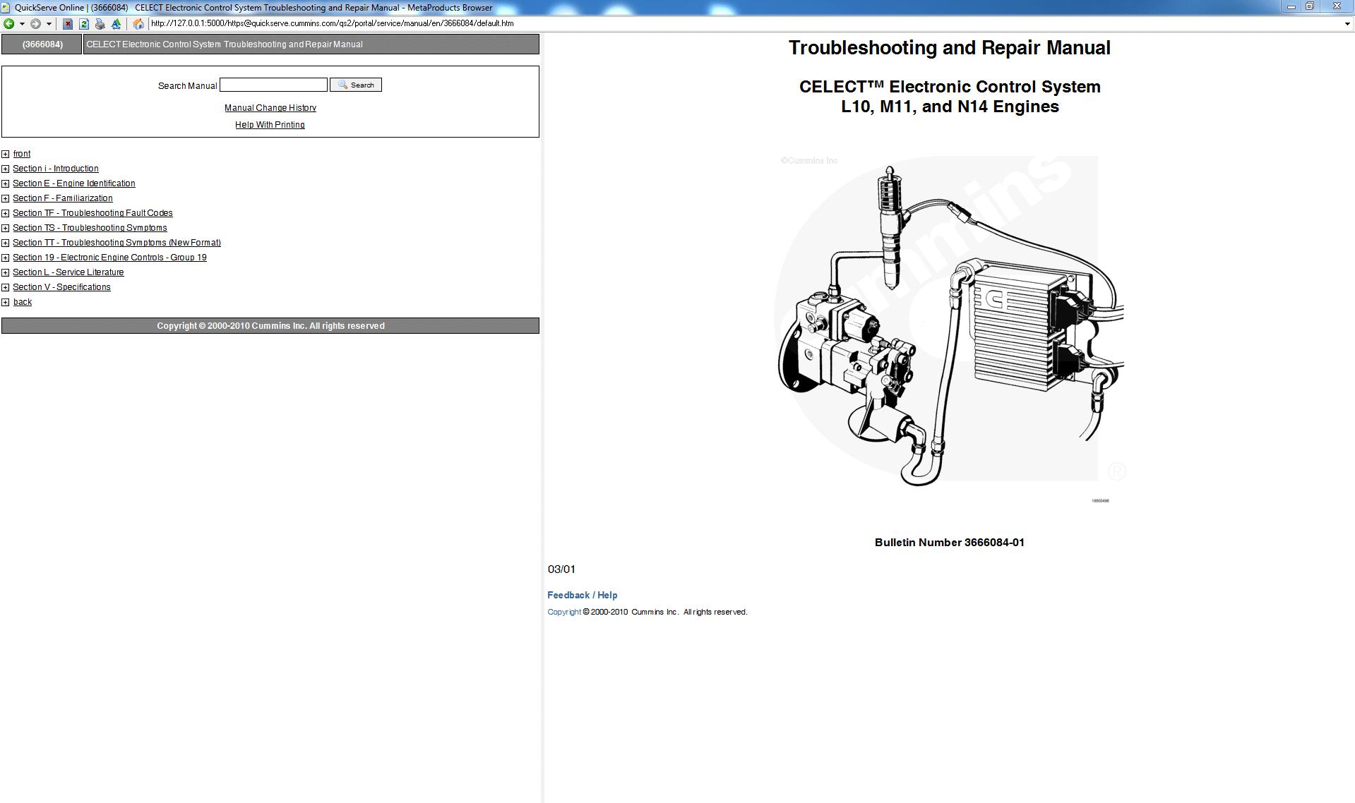 Cummins Troubleshooting And Repair Manual Celect