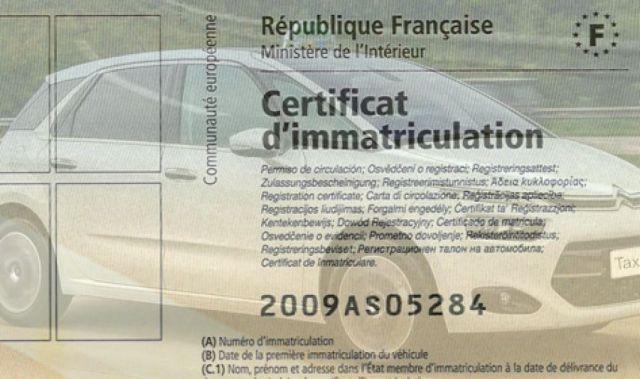 Calculer le prix d'une carte grise d'une voiture importée