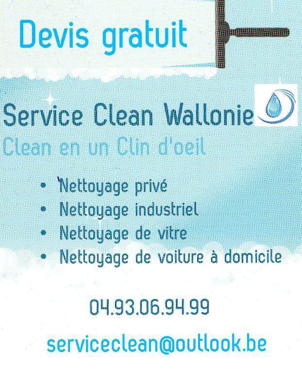 Flyers Service Clean Wallonie Socit De Nettoyage
