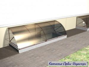 Тип 2Покрытие монолитный поликарбонат 6мм серый дымчатый