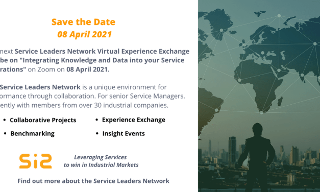 SLN Virtual Experience Exchange: Integrating Knowledge and Data into your Service Operations – 08 APRIL 2021