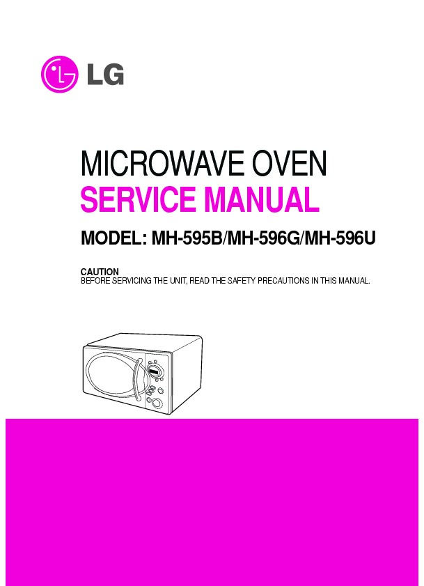 lg microwave oven service manuals