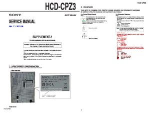 Sony HCDCPZ3 Service Manual  FREE DOWNLOAD