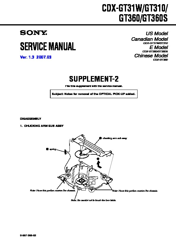 sony car audio service manuals  page 11