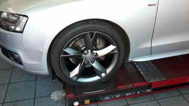Renovated alloy wheels....