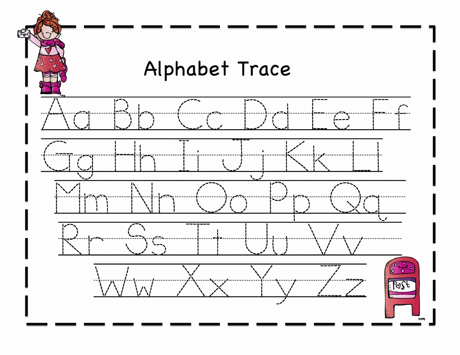 Abc Tracing Worksheet Kindergarten Servicenumber