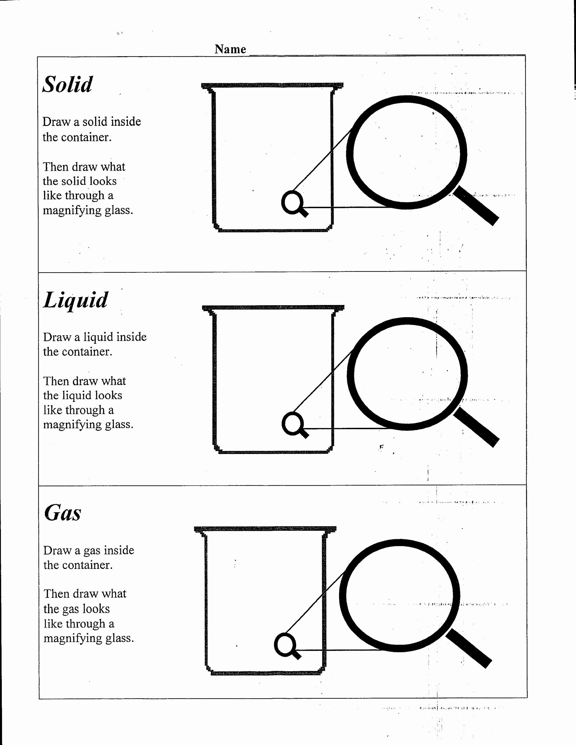 Liquid Worksheet Kindergarten Servicenumber