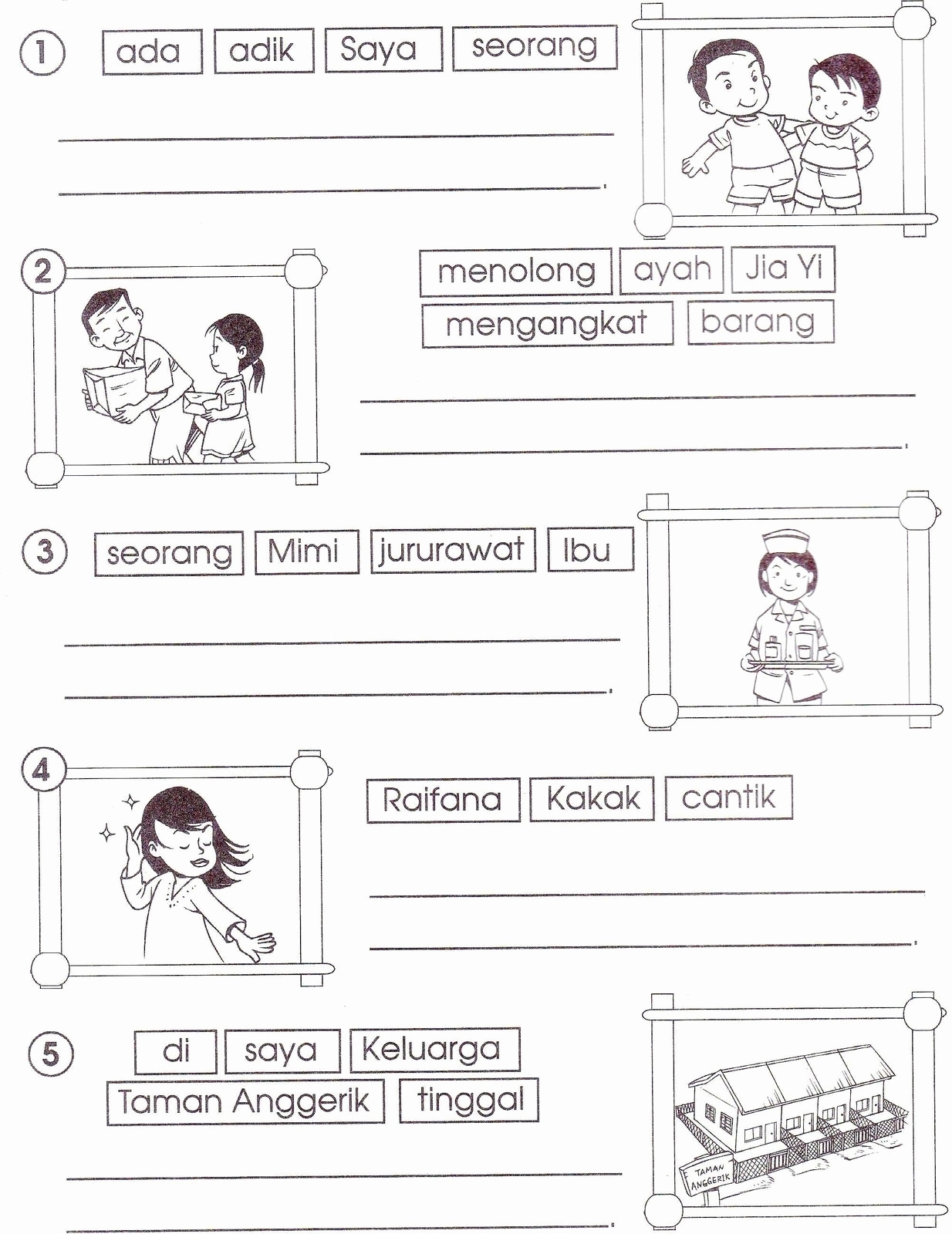 Worksheet For Kindergarten Bahasa Malaysia Servicenumber