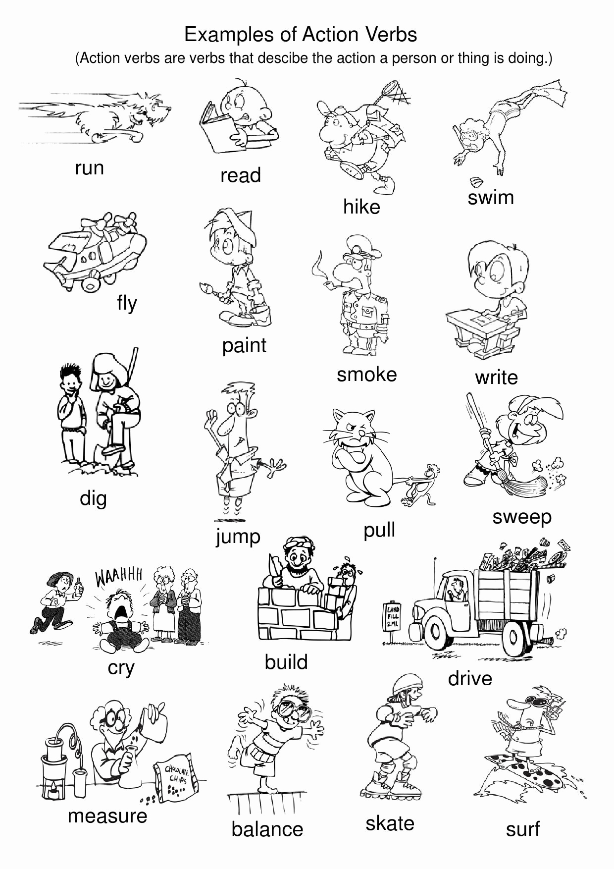 Worksheet For Kindergarten Verbs Servicenumber