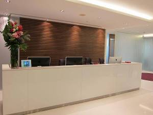 Reception of Prudential Tower