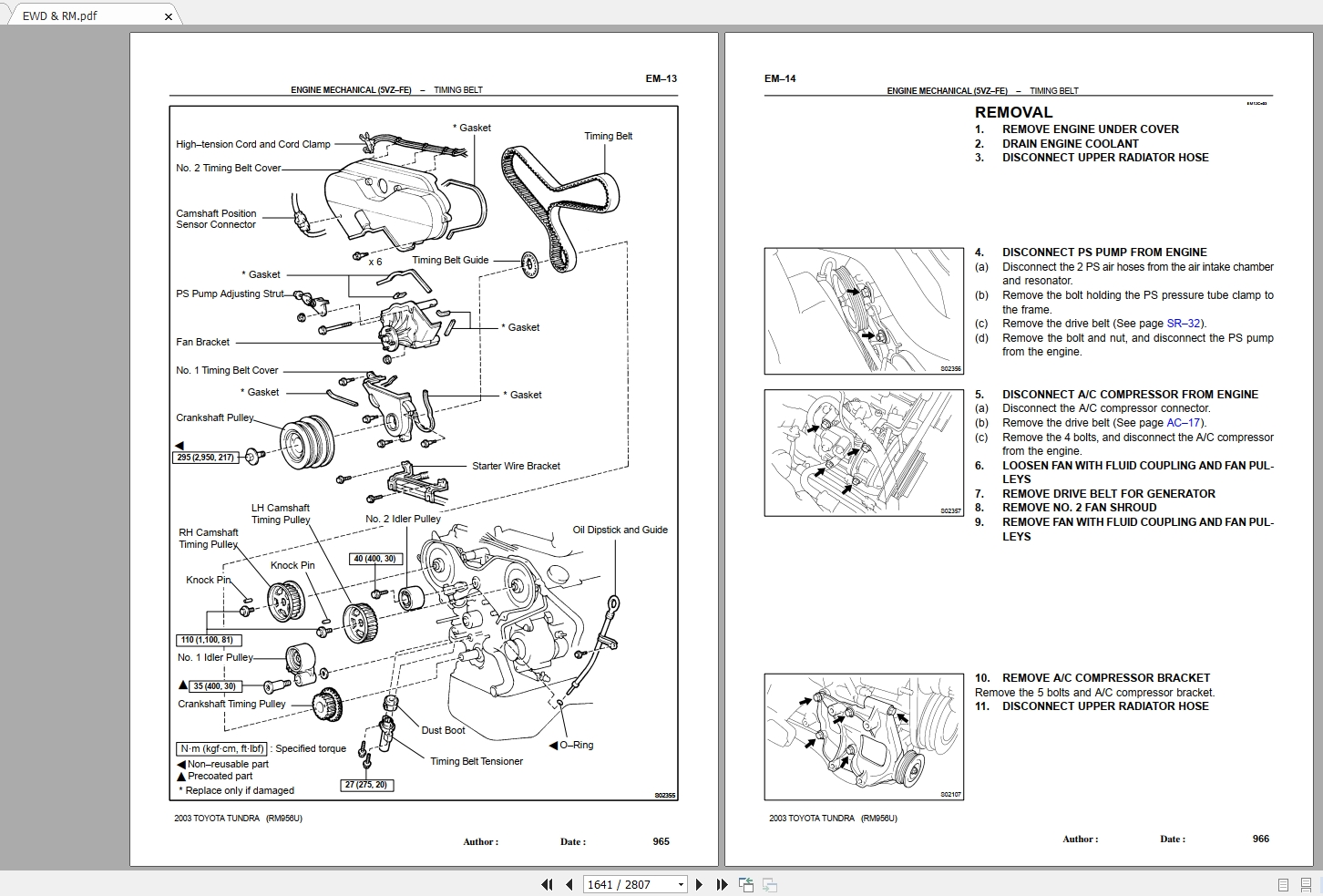 Toyota Tundra Repair Manual Amp Wiring Diagram