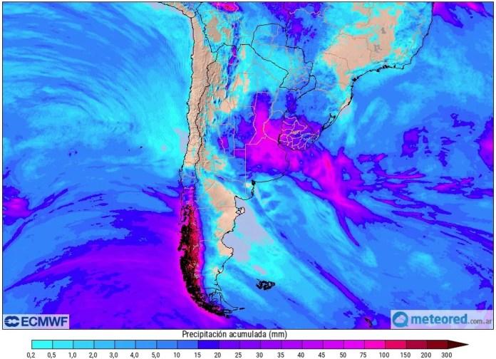 Lluvias Argentina ECMWF
